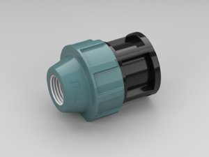 3D polypropylene fitting