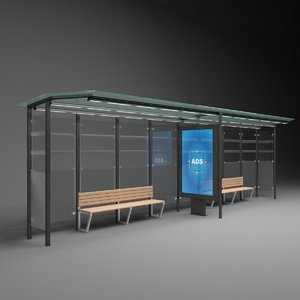 3D advertising bus stop