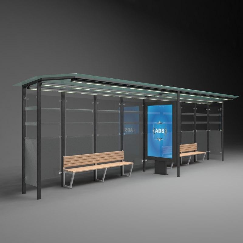 3D advertising bus stop