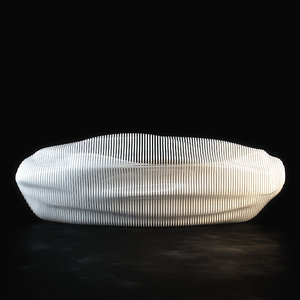 parametric reception desk model