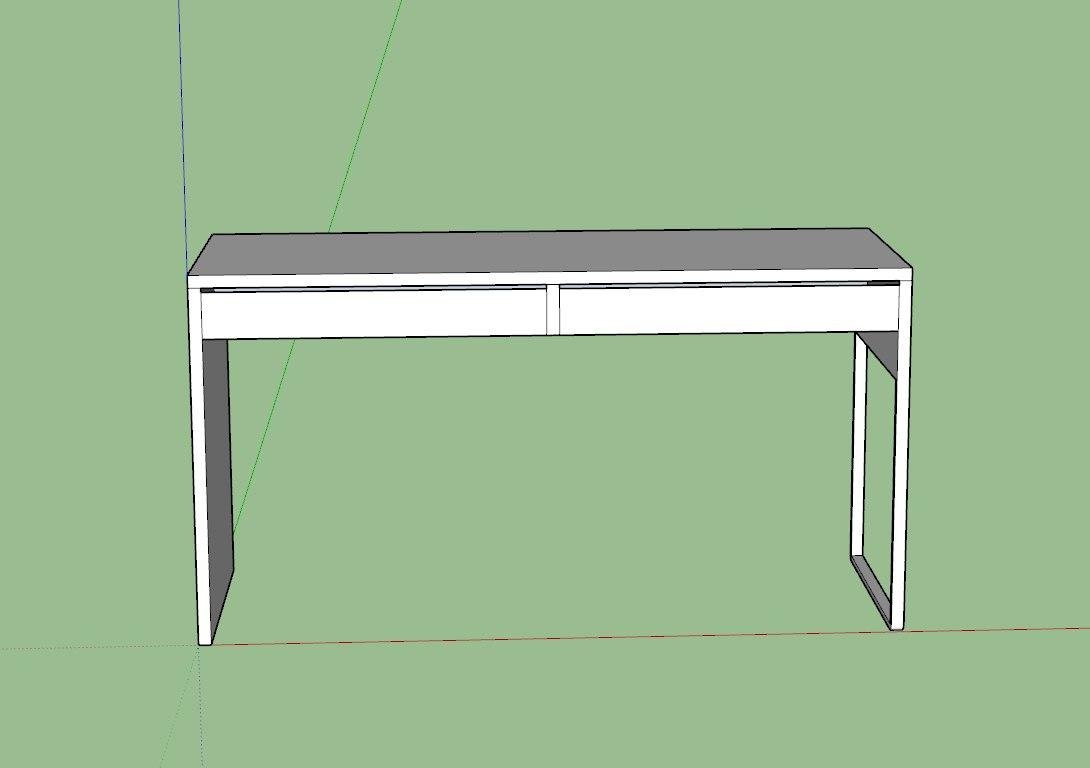 3D model desk ikea
