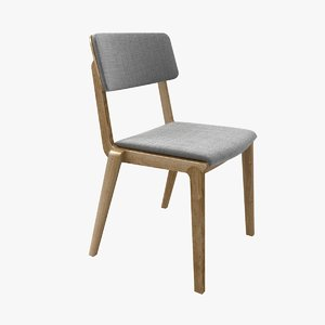 chair wing 01 wood 3D model