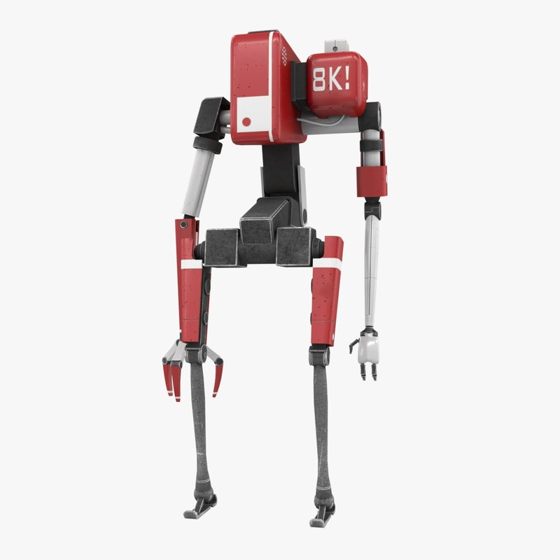 bot robot character 3D model