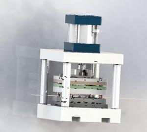 3D pressing laminate mechanism model