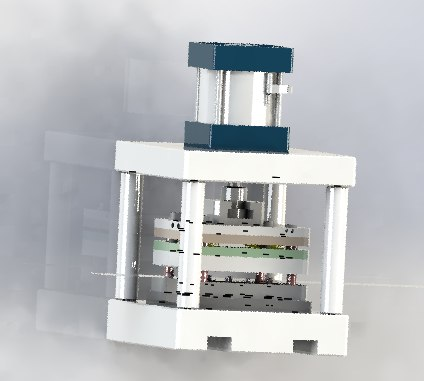 3D pressing laminate mechanism model