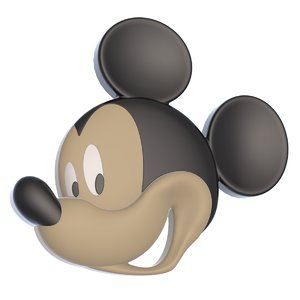 3D mickey mouse reliefs