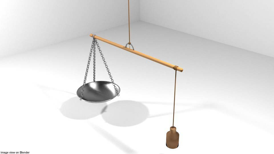 scale weighing 3D model