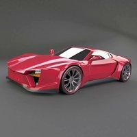 3D concept sports car pantheros