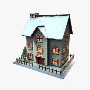 3D christmas cartoon house model