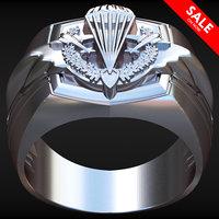 argent vdv ring russian 3D model