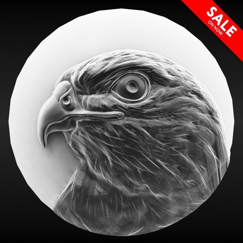 hawk coin 3D model