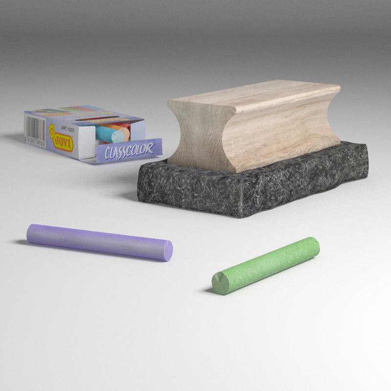 chalk board rubber 3D