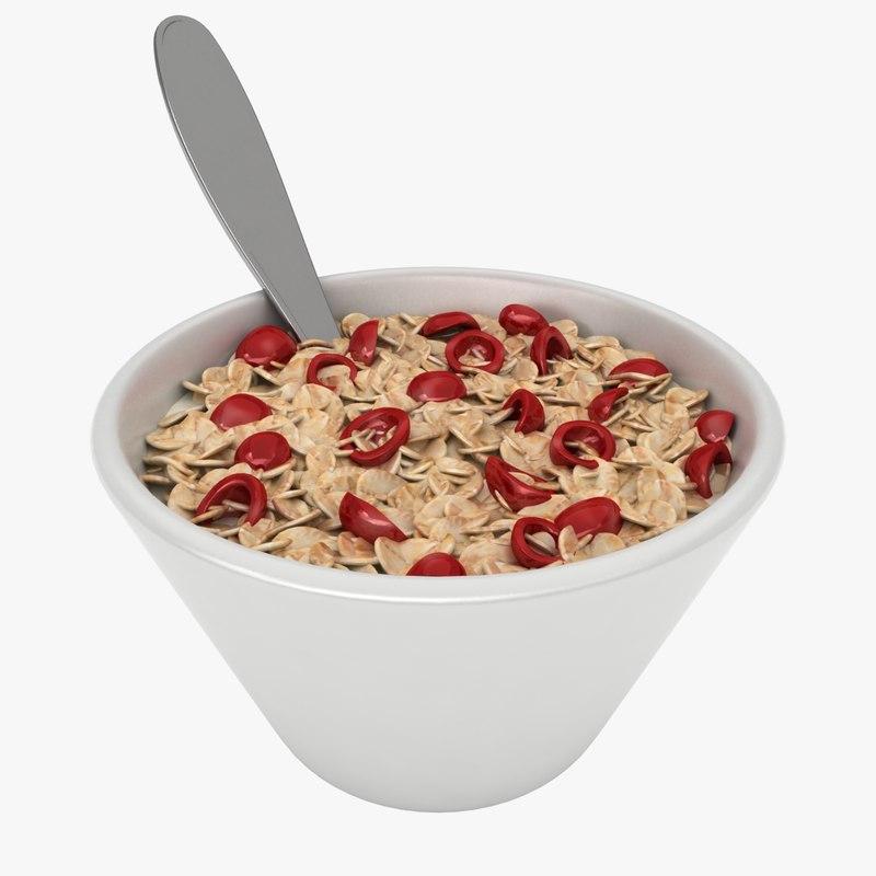 3D model oatmeal bowl 2