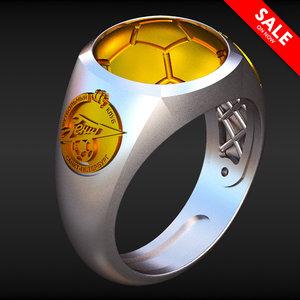 zenit football club ring 3D model