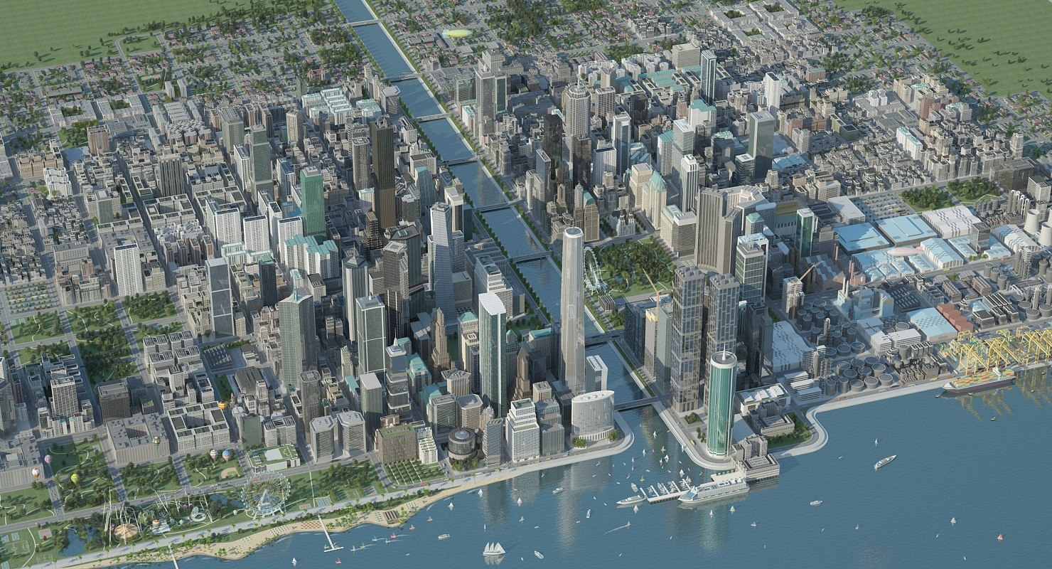 cityscape modular city big 3D model