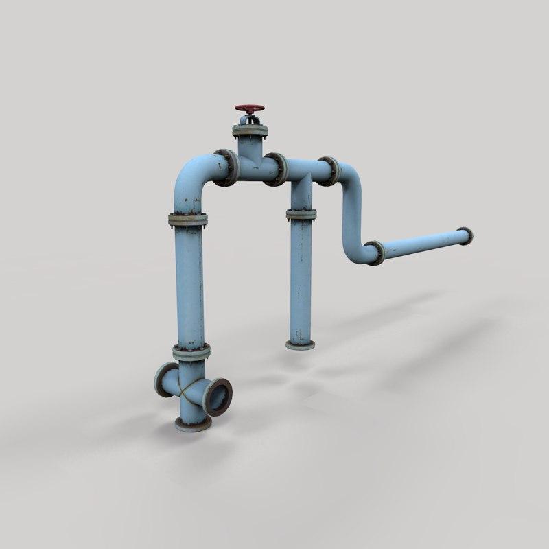 industrial pipe model