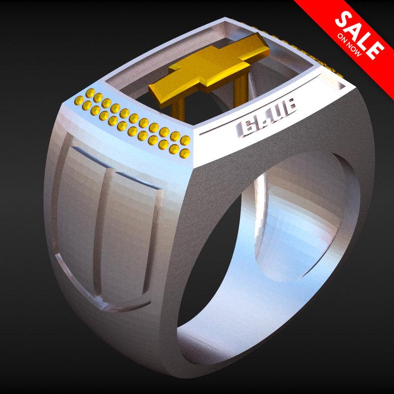 3D camaro club ring