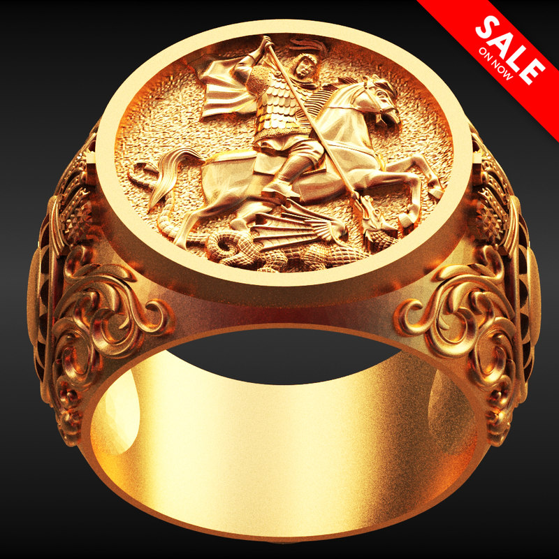 3D saint george ring model