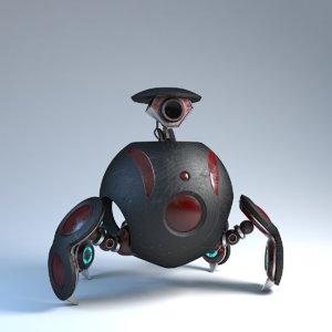 robot adventurer 3D model