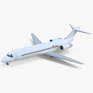 3D model boeing 717-200 generic