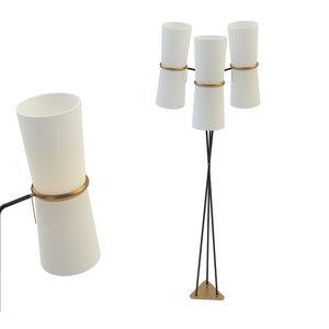 clarkson triple floor lamp 3D model