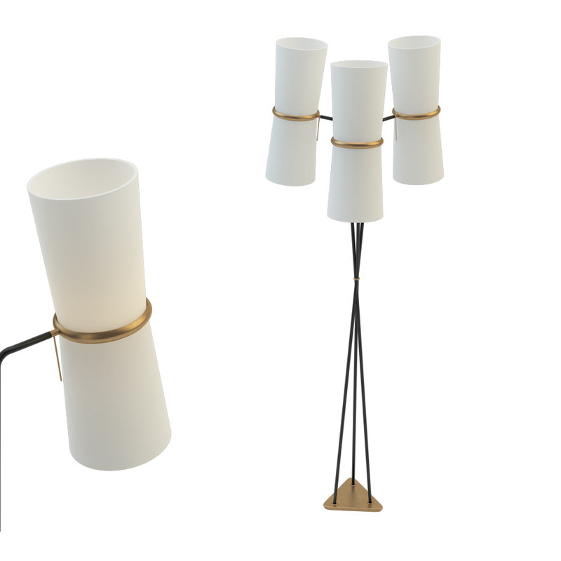 clarkson triple floor lamp 3D model