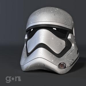 storm trooper helmet 3D