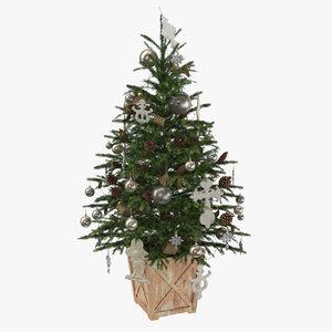 christmas tree 01 3D model