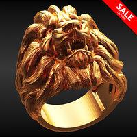 lion ring 3D model