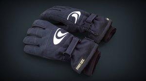 3D realistic ski gloves model