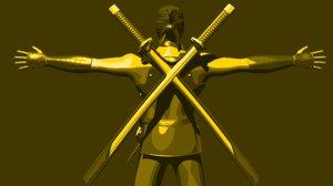 ninja character 3D model
