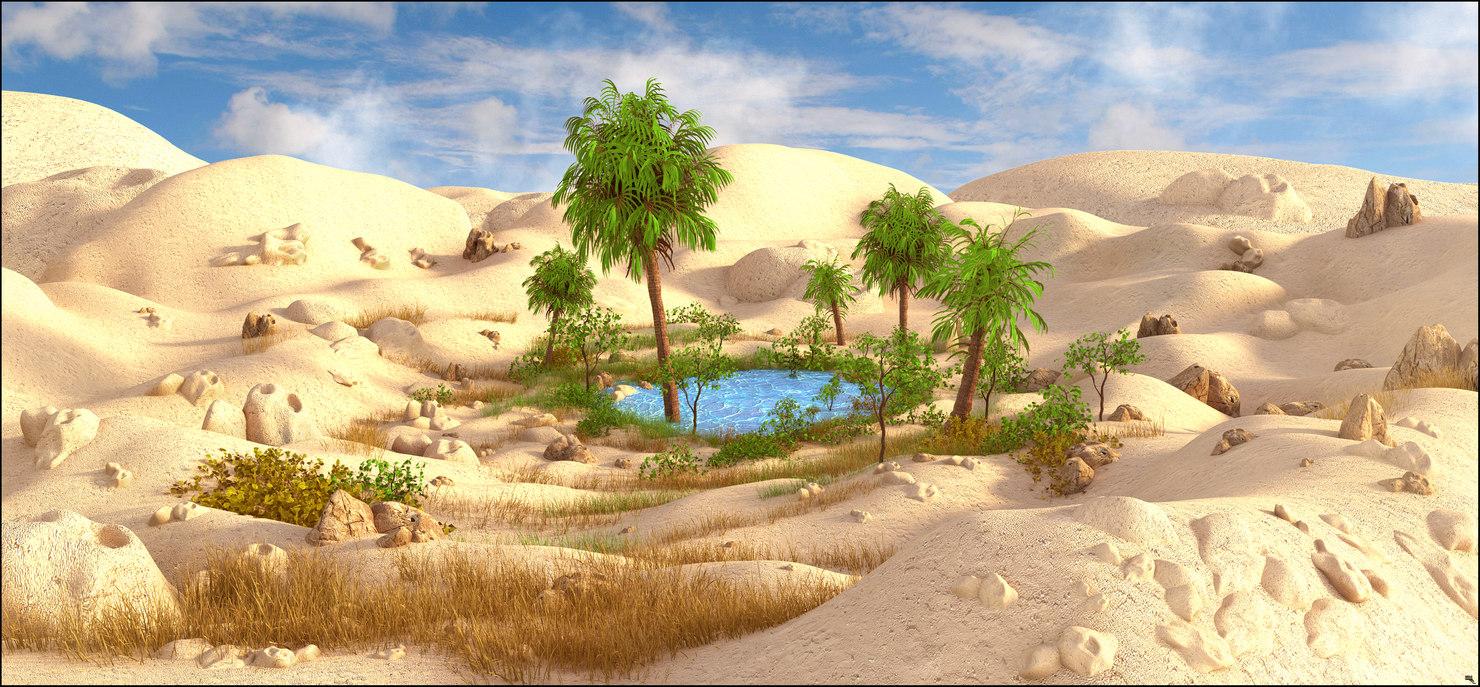 oasis 3D model