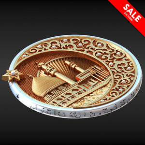 3D muslim pendant