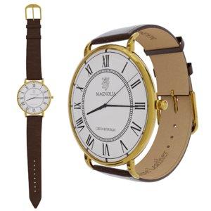 3D elegant wristwatch gold variant