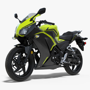 3D model lightweight motorcycle generic