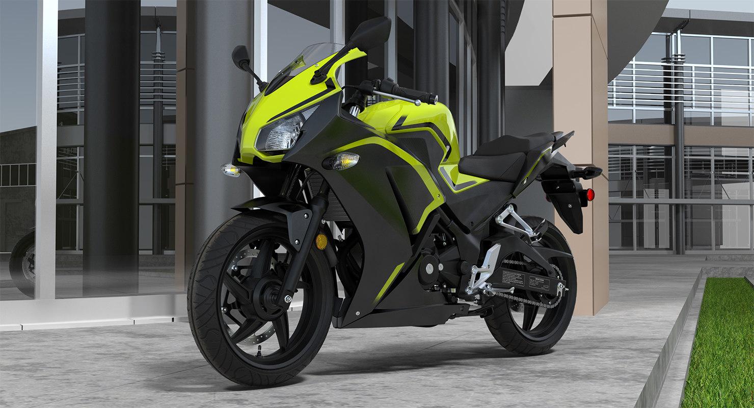 3D model lightweight motorcycle generic