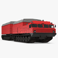 Research Articulated Tracked Vehicle Vityaz DT-30 Rigged 3D Model