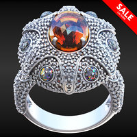 3D oval ring