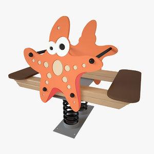 playground spring starfish model