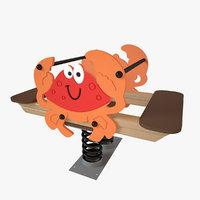 3D model playground spring crab