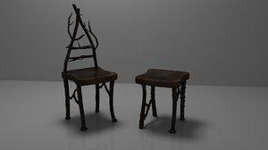 3D elven chairs model