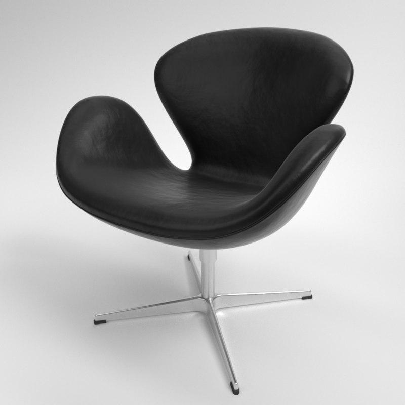 3D model interior fritz hansen swan