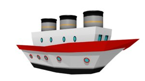 ship cartoon 3D
