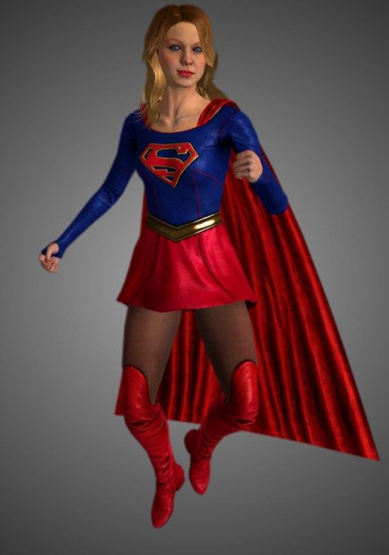 3D supergirl tv model