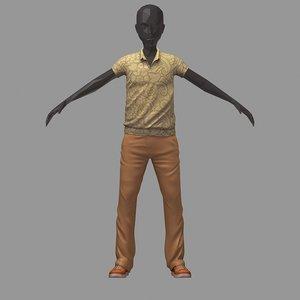 3D avatar casual set flower
