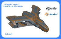 space ship dragon type 3D