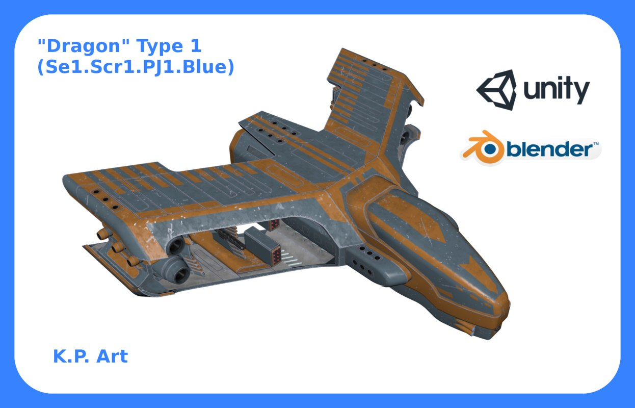 space ship dragon type 3D