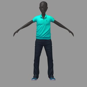 avatar casual set green model