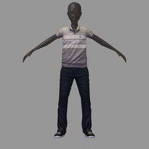 avatar casual set grey 3D