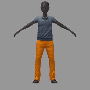 3D avatar casual set grey